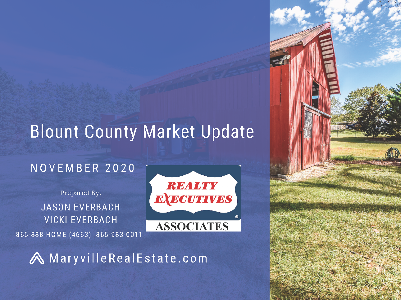 November 2020 Blount County Maryville Real Estate Market Update