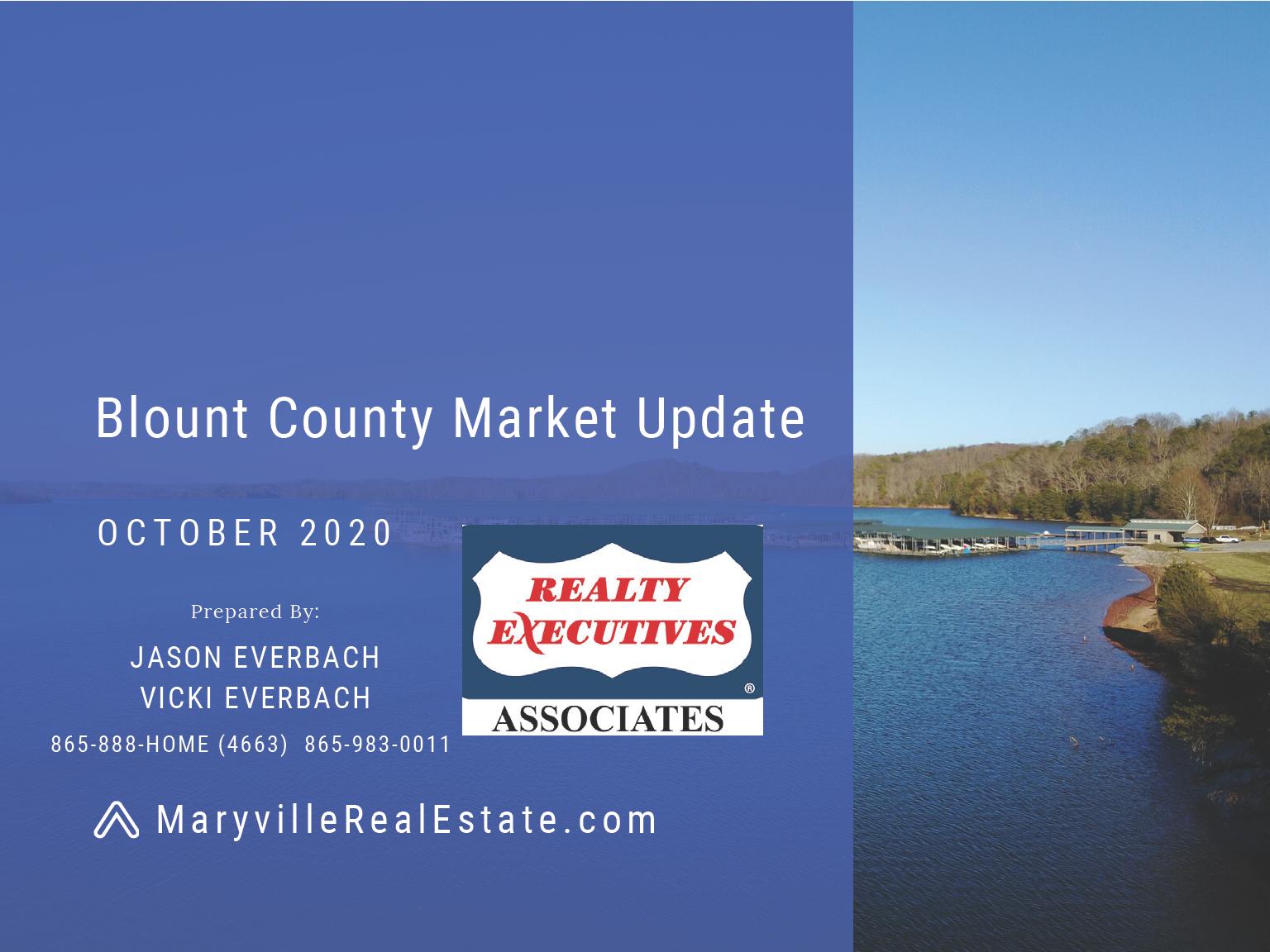 October 2020 Blount County Maryville Real Estate Market Update